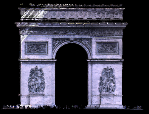 Acquisition 3D Arc de Triomphe paris